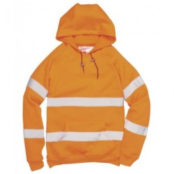 Hi-Vis Hooded Sweatshirt Orange