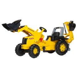 rollyJunior Construction Tractor with Front Loader & Excavator