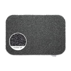 Hug Rug Plain Charcoal Eco Genetics Barrier Mat 50cm x 75cm