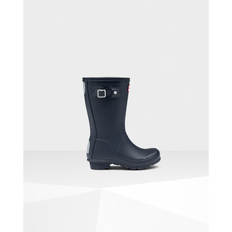 Hunter Original Kids Blue Wellingtons