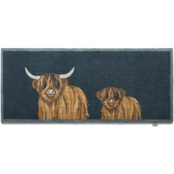 Hug Rug Highland 1 Runner - Highland Cow Barrier Mat Runner 65cm x 150cm