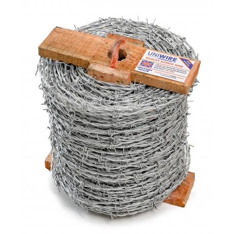 Uniwire Barbican Mild Steel Barbed Wire 2.5mm 200m Roll