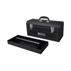 "TACTIX Steel Tool Box 51cm (20"") with Tray"