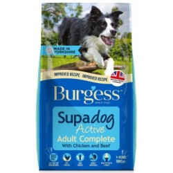 Burgess Supadog Active Dog with Chicken and Beef 15KG