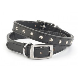 ANCOL Heritage Studded Leather Collar Black