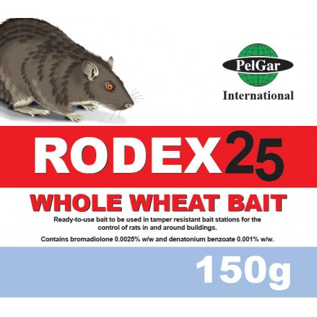 PelGar RODEX 25 Whole Wheat Bait