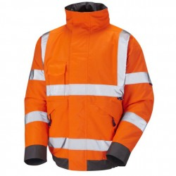 Hi-Vis Orange Railway Bomber Jacket GO/RT