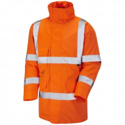 British Rail Hi Vis Parka Jacket Orange