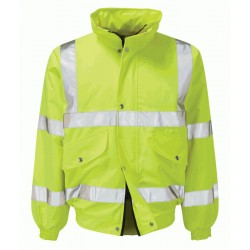 Valiant Hi-Vis Yellow Bomber Jacket