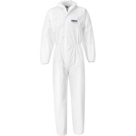 Portwest Microporous Disposable Coverall Overall White