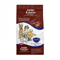 ALPHA Junior and Active Field Nuggets 15kg – 25% Protein