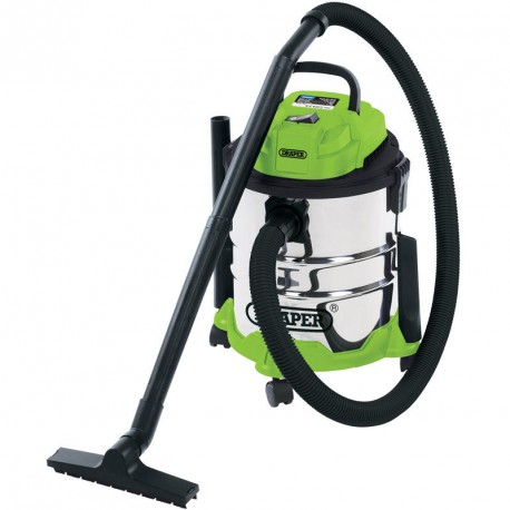 Draper 20L Wet & Dry Vacuum Cleaner With Stainless Steel Tank (1250W) - 35569