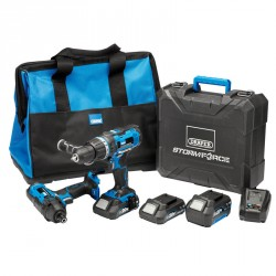Draper Storm Force 20V Cordless Impact Kit (7 Piece) - 40448