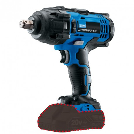 """Draper Storm Force 20V Cordless 1/2"""" Mid-Torque Impact Wrench - 89518"""