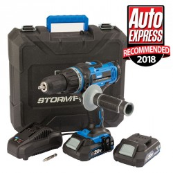 Draper Storm Force 20V Cordless Combi Drill With Two Li-Ion Batteries - 89523