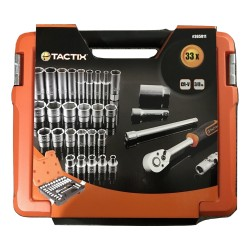 "TACTIX 365011 3/8"" Sq. Dr. Socket Set (33 Piece)"