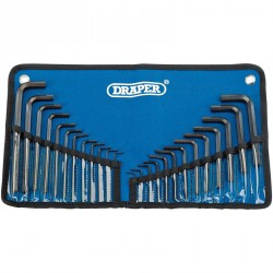 Draper Metric/Imperial Combined Hexagon Key Set (25 Piece) - 33892