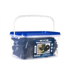 Rutland Electric Fencing Wood Screw Insulator Tub of 100