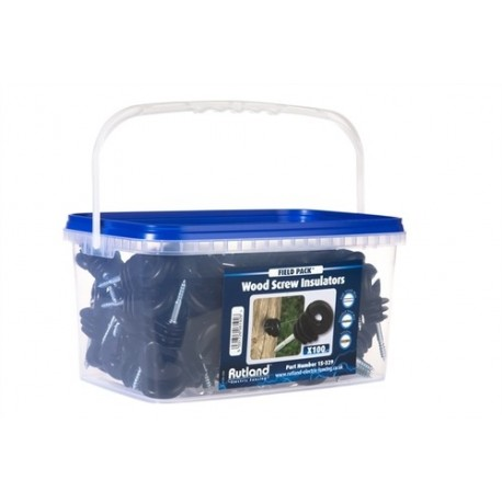 Rutland Wood Post Screw Insulator (Tub of 100)