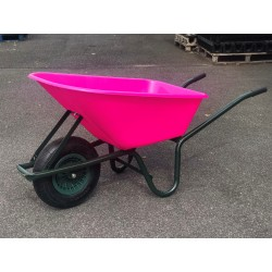 Plastic Wheelbarrow Single Wheel - Pink