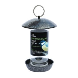 Hammered Steel Seed Feeder 2 Port - Tom Chambers