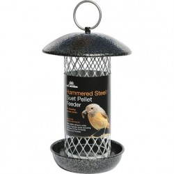 Hammered Steel Suet Pellet Feeder - Tom Chambers