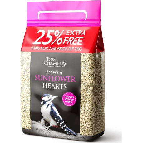 Scrummy Sunflower Hearts 2.5kg - Tom Chambers