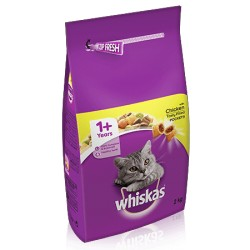 WHISKAS® 1+ Cat Complete Dry with Chicken 2kg