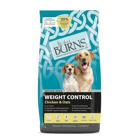 Burns Weight Control Chicken & Oats Adult Senior 7.5KG