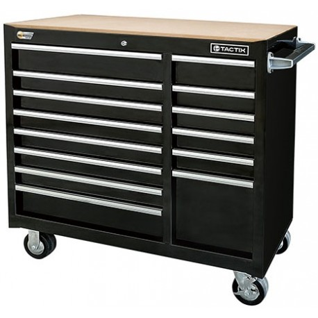 "TACTIX Steel Tool Cabinet 102cm (40.5"") 14 Drawer 