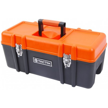 "TACTIX Plastic Toolbox 58cm (23"") with Tray"