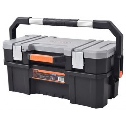 "TACTIX 2 in 1 Plastic Toolbox 61cm (24"")"