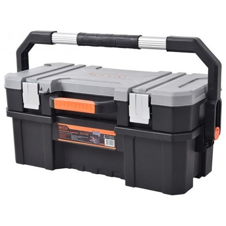 Tactix 2 In 1 Plastic Toolbox 61cm 24 320336 Tool Chest Cabinets