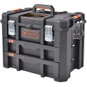 TACTIX HD Large Toolbox with 2 Drawers 53 cm to fit Tactix Modular System