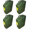 Box of 4 Standard NATO Jerry Can 20L