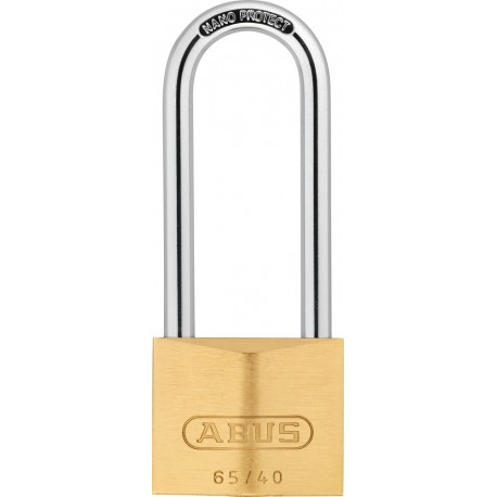 ABUS Long Shackle Brass Padlock Premium 65