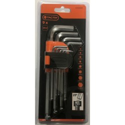 TACTIX 9 Piece Ball End Long Hex Key Set
