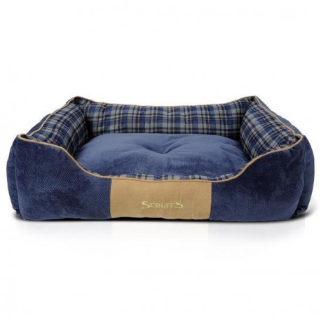 SCRUFFS Highland Box Bed Blue - Various Sizes