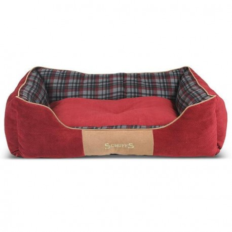 SCRUFFS Highland Box Bed Red - Various Sizes