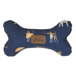 Joules Plush Navy Dog Print Bone