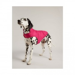 Joules Raspberry Qulited Coat