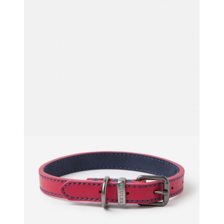 Joules Pink Leather Collar