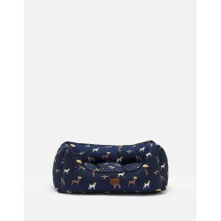 Joules Dog Print Square Dog Bed