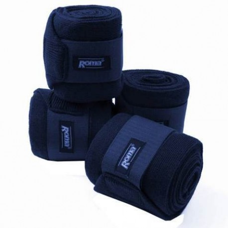Roma Acrylic Stable Bandages Set of 4 Navy