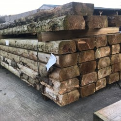 Rustic Railway Sleeper with Bark 200mm x 100mm x 2.4m
