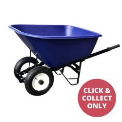 Plastic Wheelbarrow Two Wheels 200L - Blue
