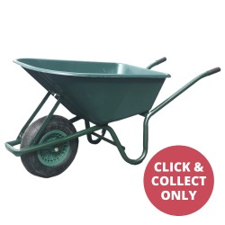 Plastic Wheelbarrow Single Wheel - Green