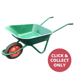 Steel Builders Barrow with Single Wheel 75L