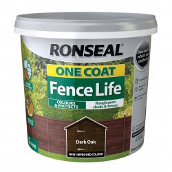 RONSEAL One Coat Fence Life Dark Oak 5L