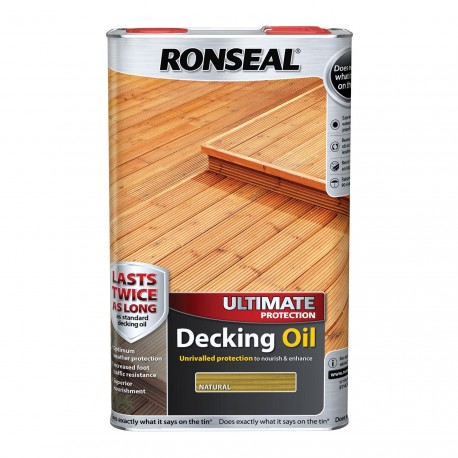 Ronseal Ultimate Decking Oil Natural 5L